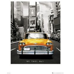 New York Taxi Number 1 - reprodukcja
