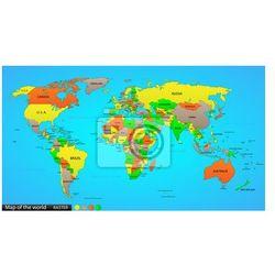 Naklejka Polityczna mapa świata
