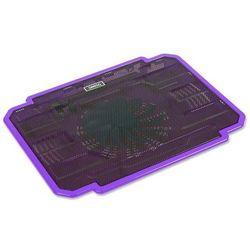 Podstawka chłodząca OMEGA do laptopa 17 cali Ice Box (41906) Fioletowy