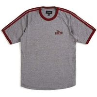 koszulka BRIXTON - Rogers Ii S/S Knit Heather Grey/Burgundy (HTGBU)