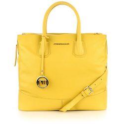 Elegancka żółta torebka ze skóry