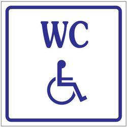 Oznaczenie toalet foliowe samoprzylepne - WC dla niepełnosprawnych