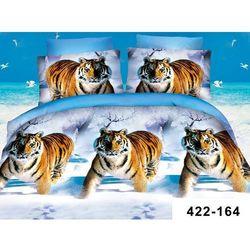 200x220 4cz Komplet Pościeli 3D Tygrysy Zimą 164