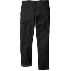 Spodnie bojówki ocieplane Regular Fit Straight bonprix czarny