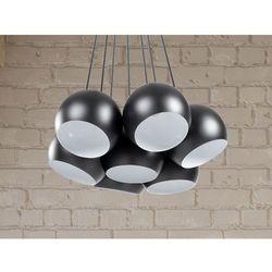 Lampa sufitowa wisząca - żyrandol czarny - oświetlenie - OLZA