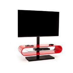 Techlink OV120TV Red - Stolik rtv z uchwytem do LED   LCD do 60