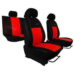 Pokrowce samochodowe EXCLUSIVE - POK-TER Skórzane Czerwone Audi 80 B3 1986-1996 - Czerwony