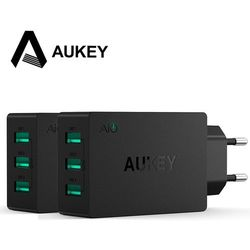 Aukey Multi Ports USB Charging Station Wall Charger 30W 3 USB Ports Charger Adapter 5V/6A with AlPower Tech for Apple iPhone 6
