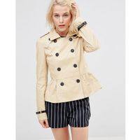 Lavand Short Double Breasted Classic Trench - Beige