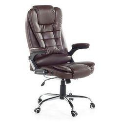 Krzeslo biurowe brazowe - fotel biurowy - obrotowy - skóra ekologiczna - ROYAL