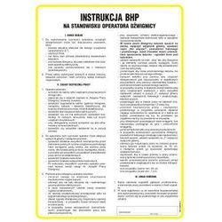 Instrukcja BHP na stanowisku operatora dźwignicy