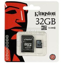 Karta pamięci Kingston Secure Digital Micro SDC4 Class 4 + Adapter mikroSD-SD 32GB - SDC4/32GB