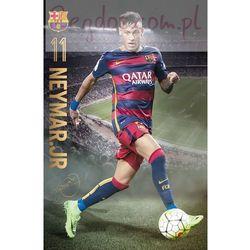 FC Barcelona Neymar w akcji - plakat
