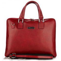 08b21c5ce69fb Torebki Skórzane VITTORIA GOTTI Made in Italy Aktówka Damska A4 Czerwona  (kolory)