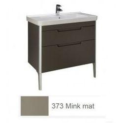 Zestaw łazienkowy szafka + umywalka Roca Unik 85 cm, mink mat, 2 szuflady A851048373