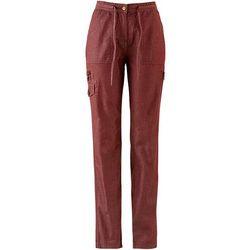 Spodnie bojówki bonprix czerwony