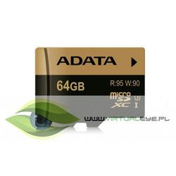 Karta MicroSD ADATA 64GB (AUSDX64GXUI3-RA1) Darmowy odbiór w 21 miastach!