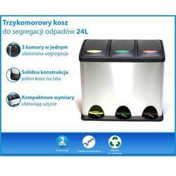 Trzykomorowy kosz do segregacji odpadów 24 Litry (3x8L)