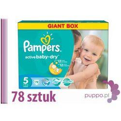 PAMPERS pieluszki Activ Baby 5 Junior 78 sztuk