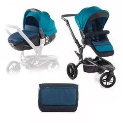 JANE Wózek sportowy Trider trójkołowy z fotelikiem samochodowymMatrix Light 2, Teal