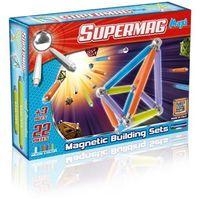 Supermag Maxi Neon, klocki magnetyczne, 22 elementy Darmowa dostawa do sklepów SMYK