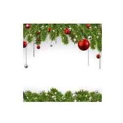 Foto naklejka samoprzylepna 100 x 100 cm - Boże Narodzenie w tle z gałęzi świerkowych.