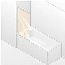 Parawan nawannowy 1- częściowy Huppe Studio Paris lewy, chrom mat, szkło przeźroczyste PR0409.E05.321