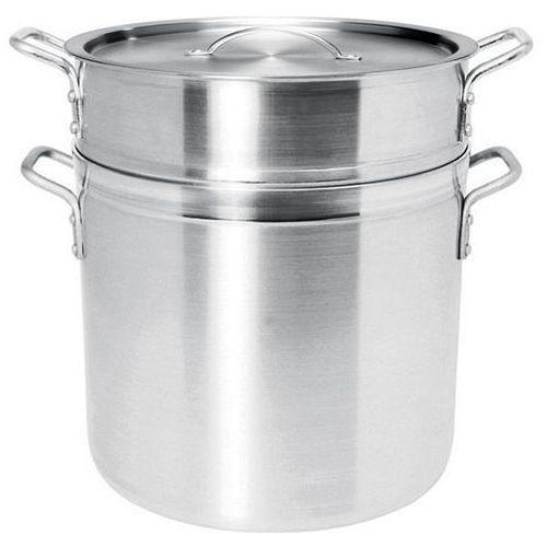 Garnek aluminiowy PROFI LINE do pierogów, ryżu, makaronu z perforowanym wkładem i pokrywką, poj. 13 l