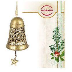Ozdoba choinkowa - złoty dzwoneczek- metaloplastyka