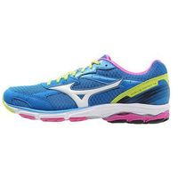 Mizuno WAVE AERO 14 Obuwie do biegania startowe director blue/white/lime punch