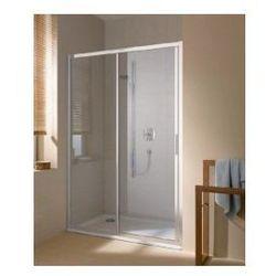 Drzwi przesuwne 2-emelentowe Kermi Cada XS prawe, z polem stałym, profil: srebrny połysk CCG2R11020VPK