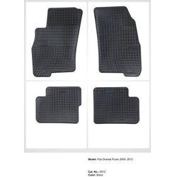 Dywaniki gumowe czarne z kompletem stoperów - Fiat Grande Punto 2005-2012