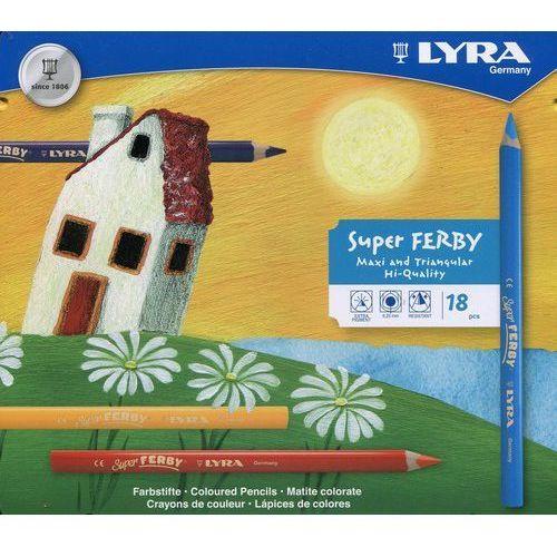 Lyra Kredki Super Ferby 18 kolorów w metalowej oprawie