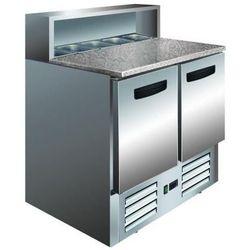 Stół do pizzy - 2 drzwiowy   +2° do +8°C   5x GN 1/6   granitowy blat