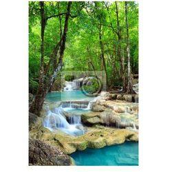 Plakat Erawan Waterfall, Kanchanaburi, Tajlandia