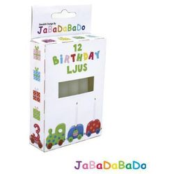 JABADABADO Zestaw 12 świeczek urodzinowych