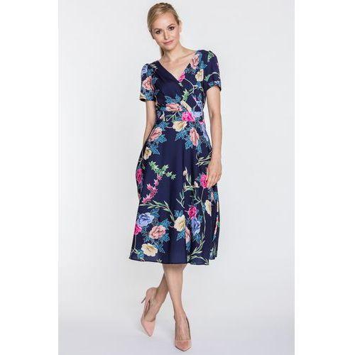 cbd70474f7 Rozkloszowana sukienka z kopertowym dekoltem Polly - POZA - porównaj ...