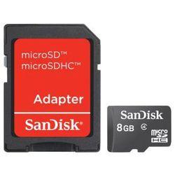 SanDisk microSDHC 8GB + adapter SD