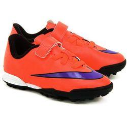 NIKE JR Mercurial Vortex II (V) - Pomarańczowe Ekoskórzane Sportowe Dziecięce - 70521