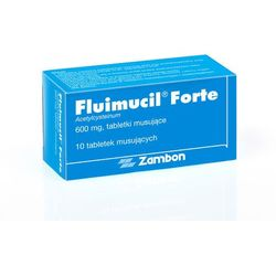 Fluimucil 600mg 10 tabletek musujących