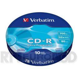 Verbatim CD-R Extra Protection 10 szt. - produkt w magazynie - szybka wysyłka! Darmowy transport od 99 zł | Ponad 200 sklepów stacjonarnych | Okazje dnia!
