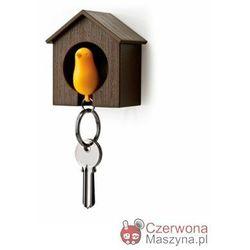 Wieszak na klucze Qualy Budka mała brązowo - żółta