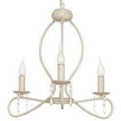 Żyrandol LAMPA wisząca FRESCO 4561 Nowodvorski świecznikowy ZWIS metalowy z kryształkami IP20 maria teresa ecru