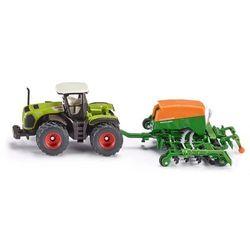 Zabawka SIKU Traktor Claas 5000 Xerion Z Siewnikiem Amazone