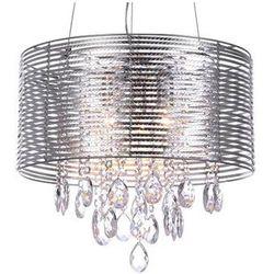 LAMPA wisząca FELLA MDM2130/3 SL Italux IP20 ŻYRANDOL abażurowy OPRAWA kryształowa glamour crystal srebrny