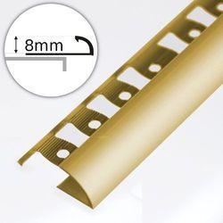 Listwa Wykończeniowa Do Płytek ASPRO 8mm Złota Dł:2,5m