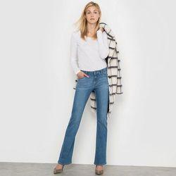 Dżinsy bootcut, normalna wysokość talii, wewnętrzna długość nogawki: 76 cm.