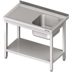Stół ze zlewem jednokomorowym z półką STALGAST 1000x700x850 prawy