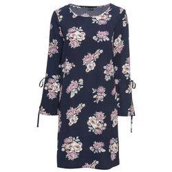 14b31ed56c suknie sukienki dzianinowa sukienka z kolorowymi nadrukami latek ...