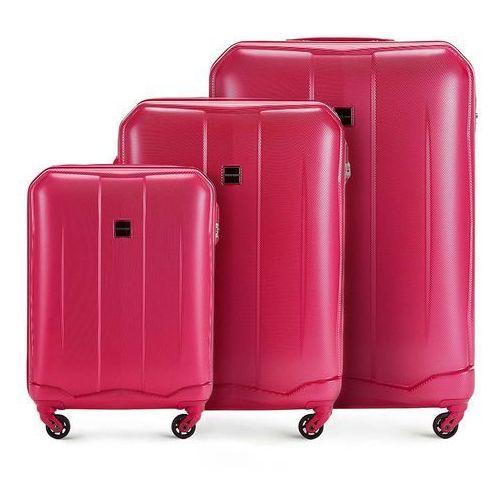 a160eb68aa05a WITTCHEN Zestaw walizek różowy ABS - porównaj zanim kupisz